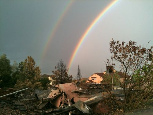 Rainbow Over Wreckage M7-12