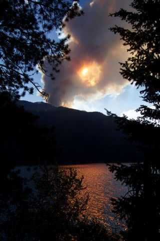 Fire Wallowa Lake M7-14